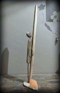The Legend . Création surf art en bois flotté et métal