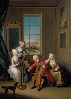 Philippe Mercier's painting shows the children of George II. In the centre is Fredrick, Prince of Wales, playing the cello