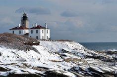 Beavertail Lighthouse in Jamestown, Rhode Island