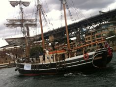 Tall ships on Sydney harbor today! Great day
