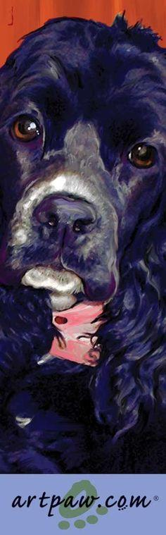 Cocker Spaniel Bookmark by artpaw on Etsy