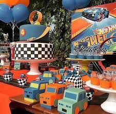 Resultado de imagen para cumpleaños con temática de hot wheels