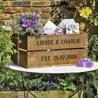 Wedding gift ideas include a Wedding Plantabox with Seasonal Flowers and a large or small wedding plantabox. Unusual Wedding Gifts, Special Wedding Gifts, Wedding Crates, Wedding Boxes, Wedding Ideas, Wedding Guest Book, Our Wedding, Dream Wedding, Wedding Wishes
