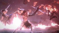 Final Fantasy Dissidia NT Jecht vs. Bartz Klauser and Squall Leonhart