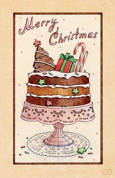 christmas desserts   2013 by Natalia Tyulkina, via Behance