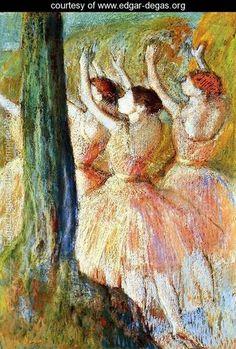Pink Dancers - Edgar Degas - www.edgar-degas.org