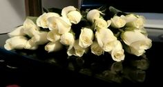 "May White fresh cut roses! Roses have been known as a symbol of love and beauty! White roses tell the recipient ""you are heavenly"""