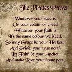 Pirates prayer- t-shirt sale Pirate Code, Pirate Ship Tattoos, Pirate Tattoo, Pirate Quotes, Pirate Sayings, Pirate History, Pirate Art, Pirate Ships, Pirate Decor