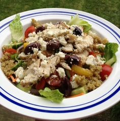 Advocare 24 Day Challenge! Grilled Greek Chicken Salad with Mediterranean Quinoa. Click on my picture for recipe I used. Click here... https://www.advocare.com/130547111/Store/default.aspx for Advocare 24 Day Challenge!