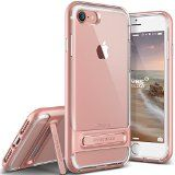 Coque iPhone 7 VRS Design [Crystal Bumper][Or Rose] - [Transparente étui][Housse de Protection][Kickstand][Anti Scratch Case][Anti Chocs][Military Grade] Pour Apple iPhone 7