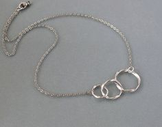 Circles necklace silver twist rings by balance9 by balance9