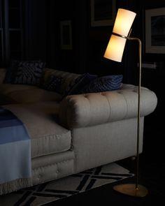 Clarkson Brass Floor Lamp   Brass floor lamp, Floor lamp and Lights