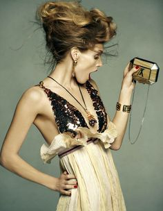 Image: Malgosia Bela by Greg Kadel, Vogue Spain. Hair by Peter Gray, makeup by Lloyd Simmonds via.
