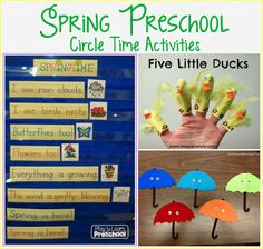 Play to Learn Preschool: Spring Circle Time Activities