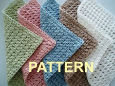 very easy crochet dishcloth patterns | Crochet Washcloth Patterns - Pattern Collections