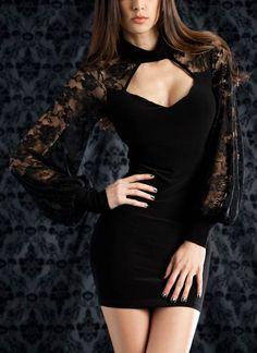 sweetheart lace sleeve dress