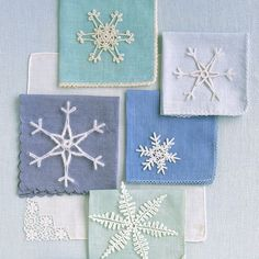 One of nature's best decorating ideas is the snowflake: It adds sparkle to upturned eyelashes, embellishment to bare tree branches. With crocheted versions of this seasonal icon, you can bring its frosty filigree indoors.