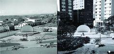 Concha Acústica, ontem e hoje. Londrina