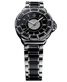 TAG Heuer Women s Swiss Diamond (5 8 ct. t.w.) Black Ceramic and Stainless  Steel Bracelet Watch 37mm WAH1219.BA0859 Jewelry   Watches - Watches -  Macy s 9fd5edb068
