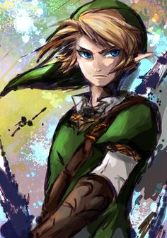 Painted Link (I think I played this once with an old gameboy when I was a little kid.)