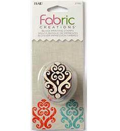 Fabric+Creations™+Block+Printing+Stamps+-+Small+-+Baroque+Flourish