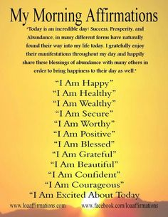 Everyday affirmations