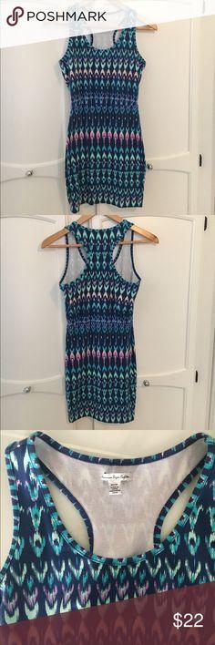 American Eagle Bodycon Dress Cute, comfy, multi-colored bodycon dress! Never worn! American Eagle Outfitters Dresses