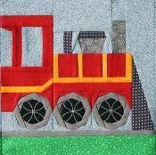 Chugging Along - 1 - Locomotive - via @Craftsy