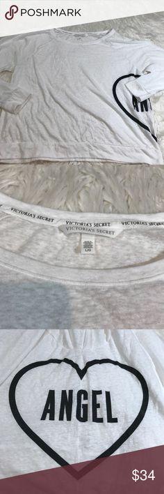 Victoria's Secret Long Sleeve Angel Tee Like new Victoria's Secret Tops Tees - Long Sleeve