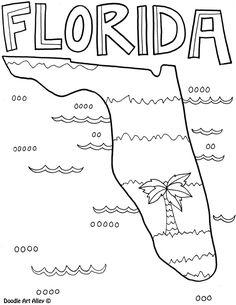 Flower Coloring Pages  States PennWyoming  USA Islands  Free