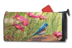 "Sitting Pretty Mailbox Cover Bird Mail Wrap by MailWraps. $15.95. Comes with 2 sets of self-adhesive numbers. Fits a standard metal mailbox that is 6.5"" wide and 19"" long. Screen printed for long lasting beauty. Guaranteed for one year not to crack or fade. Comes with 4 black security ties. Durable cover attaches securely to your standard sized mailbox with a strong magnetic strip at each bottom.  This patented feature allows the cover to stay put in all kinds o..."
