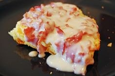 Chipped Beef Gravy over Cornbread - The warmest, creamiest comfort food. Perfect for a cold winter day.