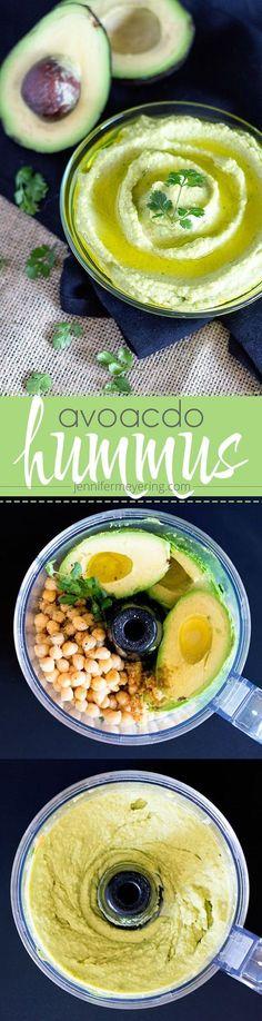 Avocado Hummus | http://JenniferMeyering.com no soy, yay