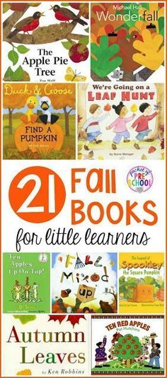 21 Fall themed books for preschool, pre-k, and kindergarten that students are going to LOVE! #falltheme #preschool #prek