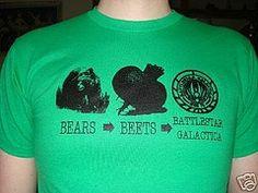 Bears, Beets, Battlestar Galactica.
