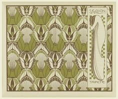 Print, Sigalion Tapete (Sigalion Wallpaper), plate 9, in Die Quelle: Flächen Schmuck (The Source: Ornament for Flat Surfaces), 1901