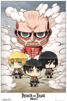 Attack on Titan Chibi Group - Official Poster