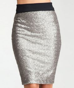 Care for some pizzazz with that polish? Studded with twinkling sequins and fashioned with figure-loving stretch, this pencil skirt is sure to turn a head or two.