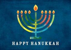 Rainbow Lights - Hanukkah Greeting Cards in Stormy Blue | Magnolia Press