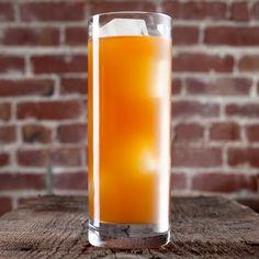 Frisky Whiskey :        1 oz Michael Collins Irish Whiskey      1 oz Bärenjäger Honey Liqueur      1 oz Fresh orange juice      .25 oz Simple syrup (1 part sugar, 1 part water)      2 Dashes Angostura Bitters    Glass: Highball