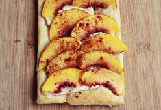 Peach tart recipe and Mozz and tomato tart