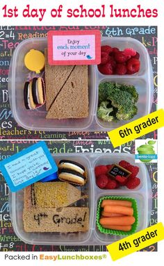 Quick and easy back to school lunch ideas! via www.bento-logy.blogspot.com