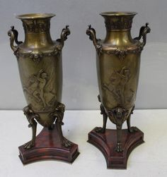 Buy online, view images and see past prices for Pair of Classically Decorated Vases Signed. Invaluable is the world's largest marketplace for art, antiques, and collectibles.