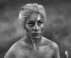 Trying to get into Game of Thrones, drew this whilst i was making my way through Season 1, really enjoying it :) #gameofthrones #daenerystargaryen