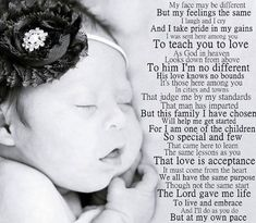 This is perfect - Downs Syndrome Down Syndrome Quotes, Down Syndrome And Autism, Down Syndrome Baby, Down Syndrome Awareness, Down Syndrome Tattoo, Father Daughter Love Quotes, Special Needs Kids, Special People, Good Good Father