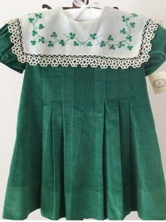 Happy St Patrick's Day by Mela Wilson Heirloom Children's Clothing.