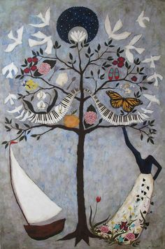 Rebecca Rebouché — The story behind the Family Tree Paintings I. Art Painting, Tree Painting, Painting, Whimsical Art, Illustration Art, Art, Tree Of Life Art, Rebecca Rebouche, Family Tree Painting