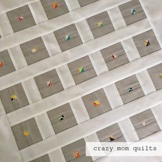 crazy mom quilts: finish it up Friday * tiny little HST... so cute
