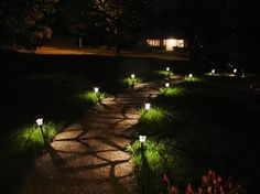 Hampton Bay Solar Powered Integrated LED Black Landscape Path Light (6-Pack) 84010 at The Home Depot - Mobile