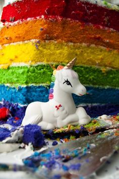 Check out the rainbow cake - amazing!  I've got to have a rainbow birthday party for the girls.
